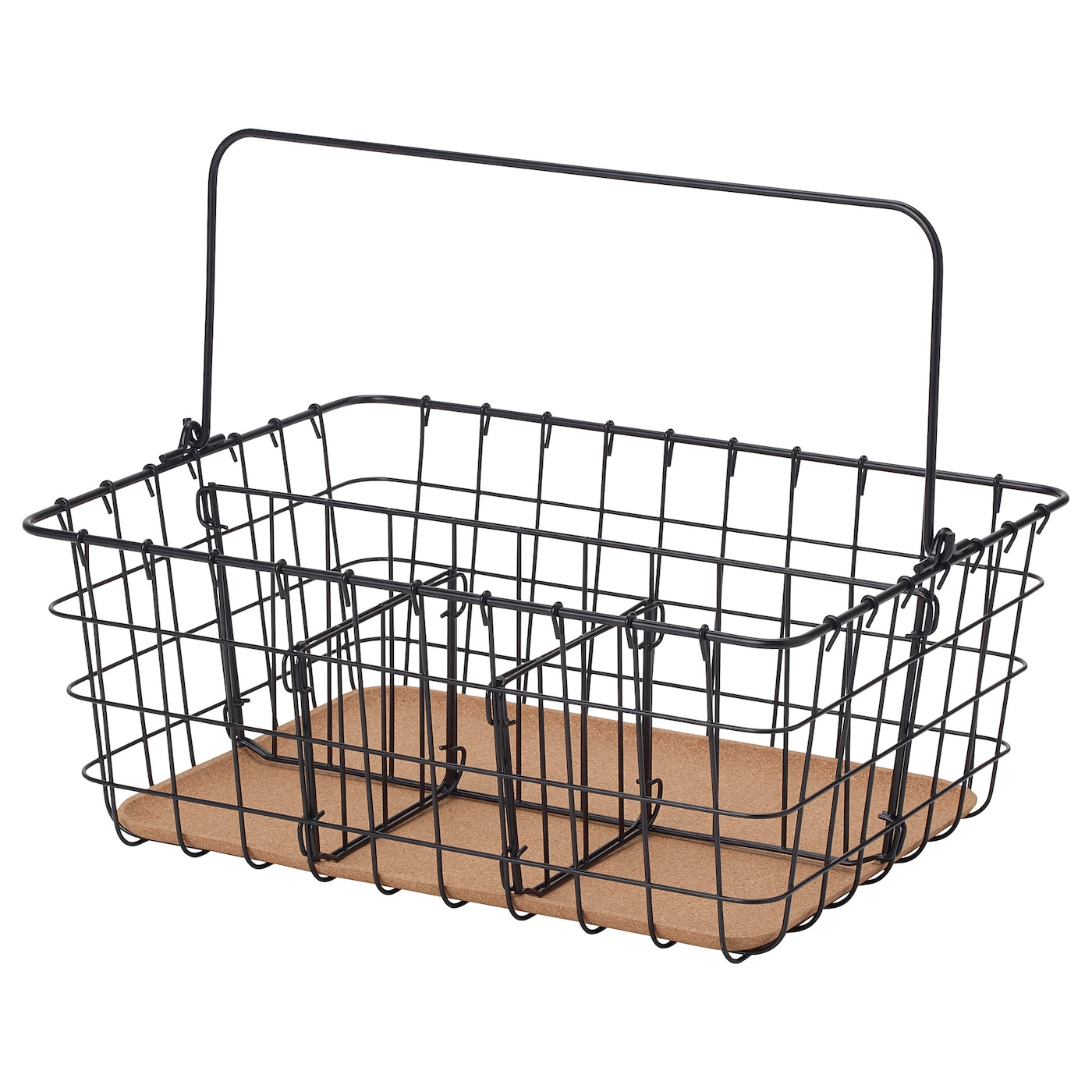 IKEA PLEJA wire basket with handle The plastic feet protect the surface against scratching.