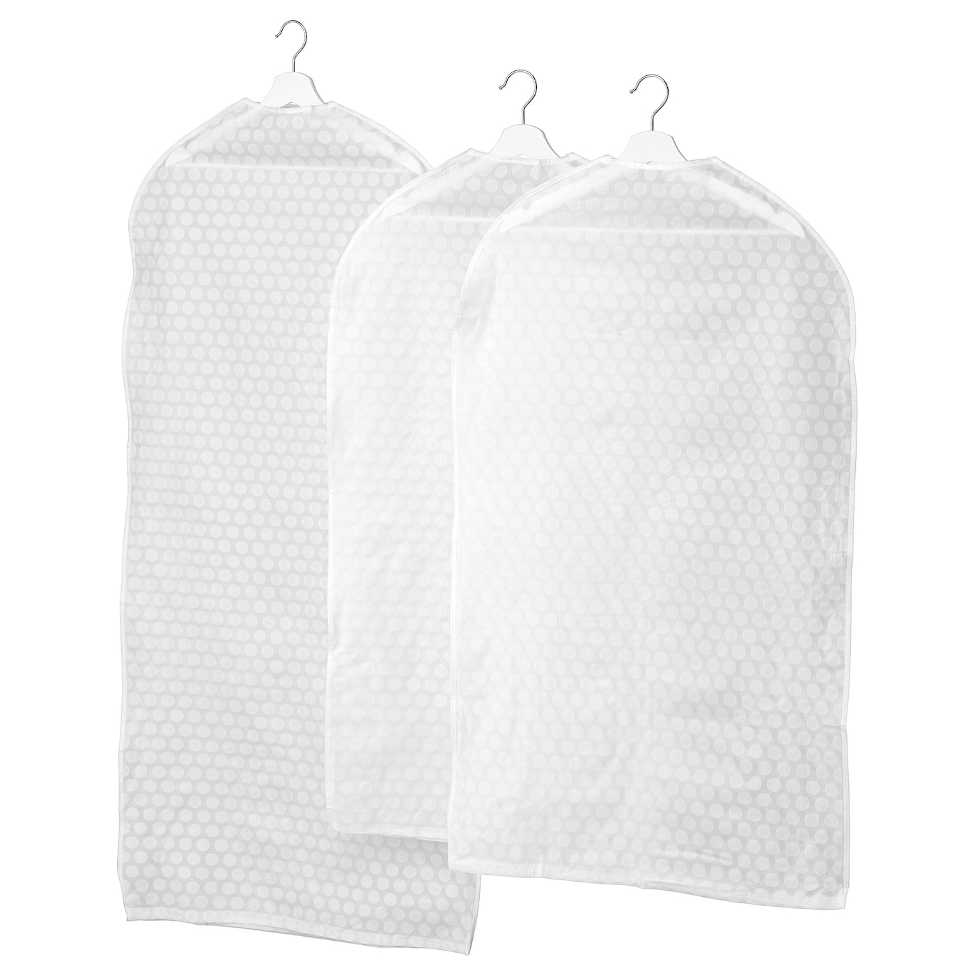 IKEA PLURING clothes cover, set of 3 Protects your clothes from dust.
