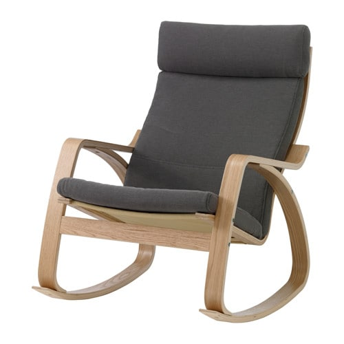 IKEA POÄNG rocking-chair Layer-glued bent beech frame gives comfortable resilience.
