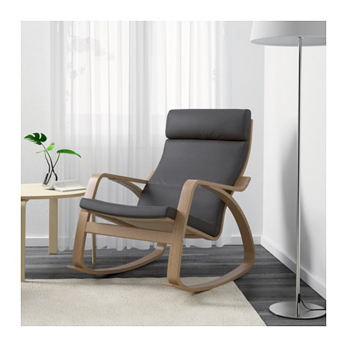 Po ng rocking chair oak veneer finnsta grey ikea - Ikea varmdo rocking chair ...