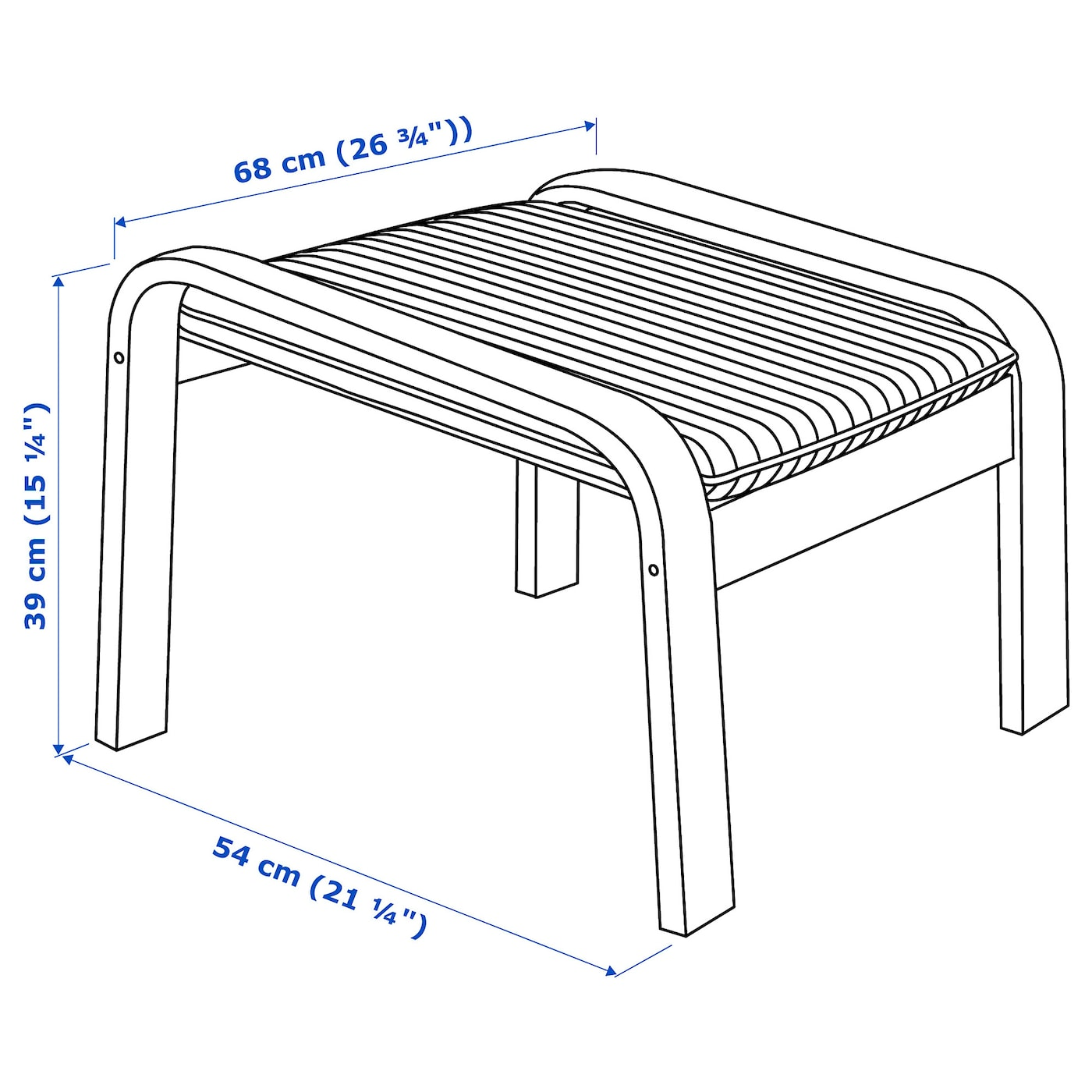 IKEA POÄNG footstool The cover is easy to keep clean as it is removable and can be washed.