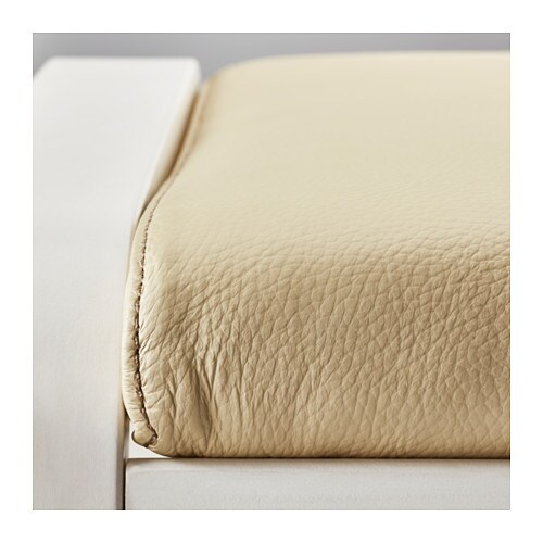 IKEA POÄNG footstool Layer-glued bent birch frame gives comfortable resilience.
