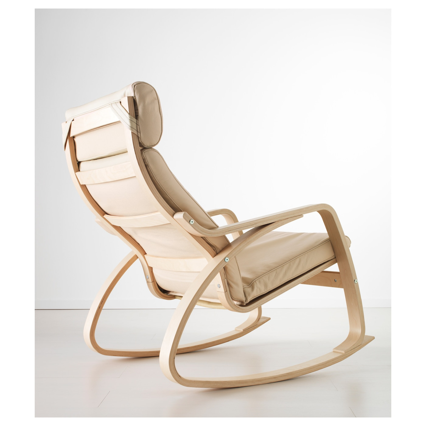 Ikea Poang Rocking Chair The High Back Gives Good Support For Your Neck