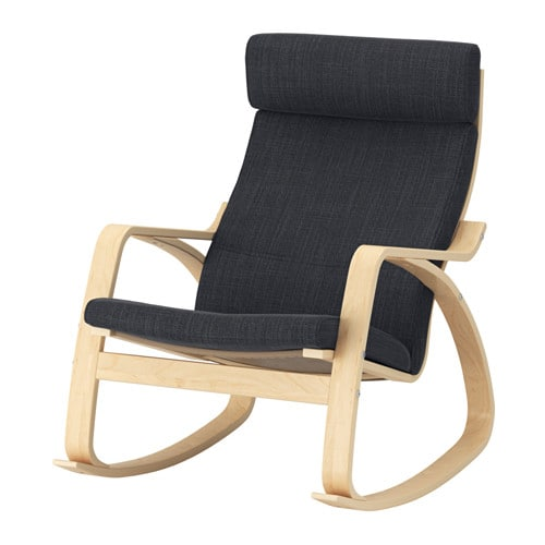 Poang Rocking Chair Birch Veneer Hillared Anthracite Ikea