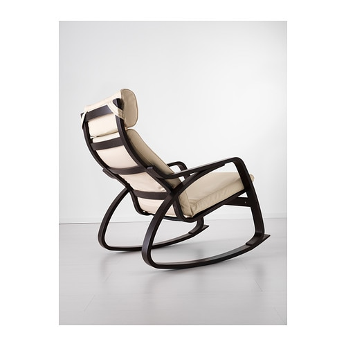 IKEA POÄNG rocking-chair The high back gives good support for your neck.