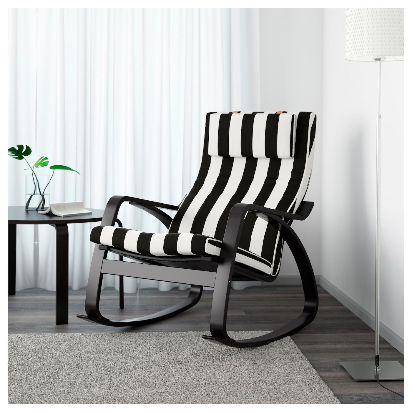 "poa""ng rocking chair black brown stenli black white ikea"