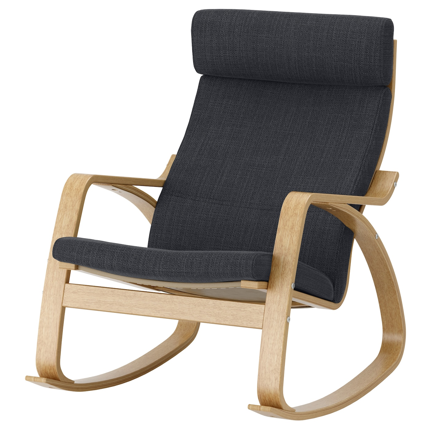 po ng rocking chair oak veneer hillared anthracite ikea. Black Bedroom Furniture Sets. Home Design Ideas