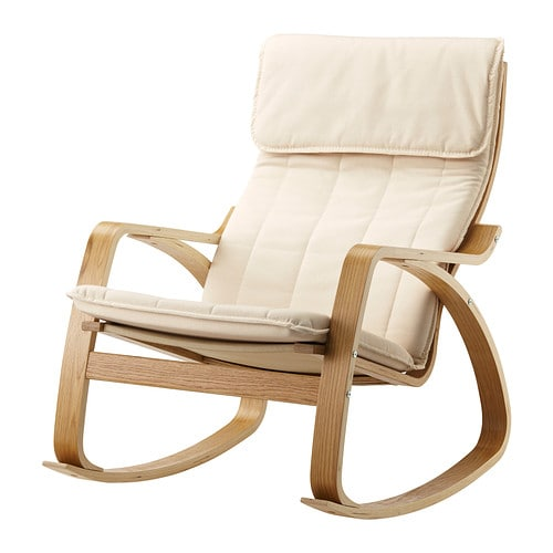 Po ng rocking chair oak veneer ransta natural ikea for Childrens rocking chair ikea