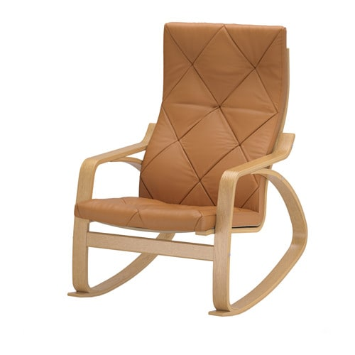 IKEA POÄNG rocking-chair Layer-glued bent oak gives comfortable resilience.