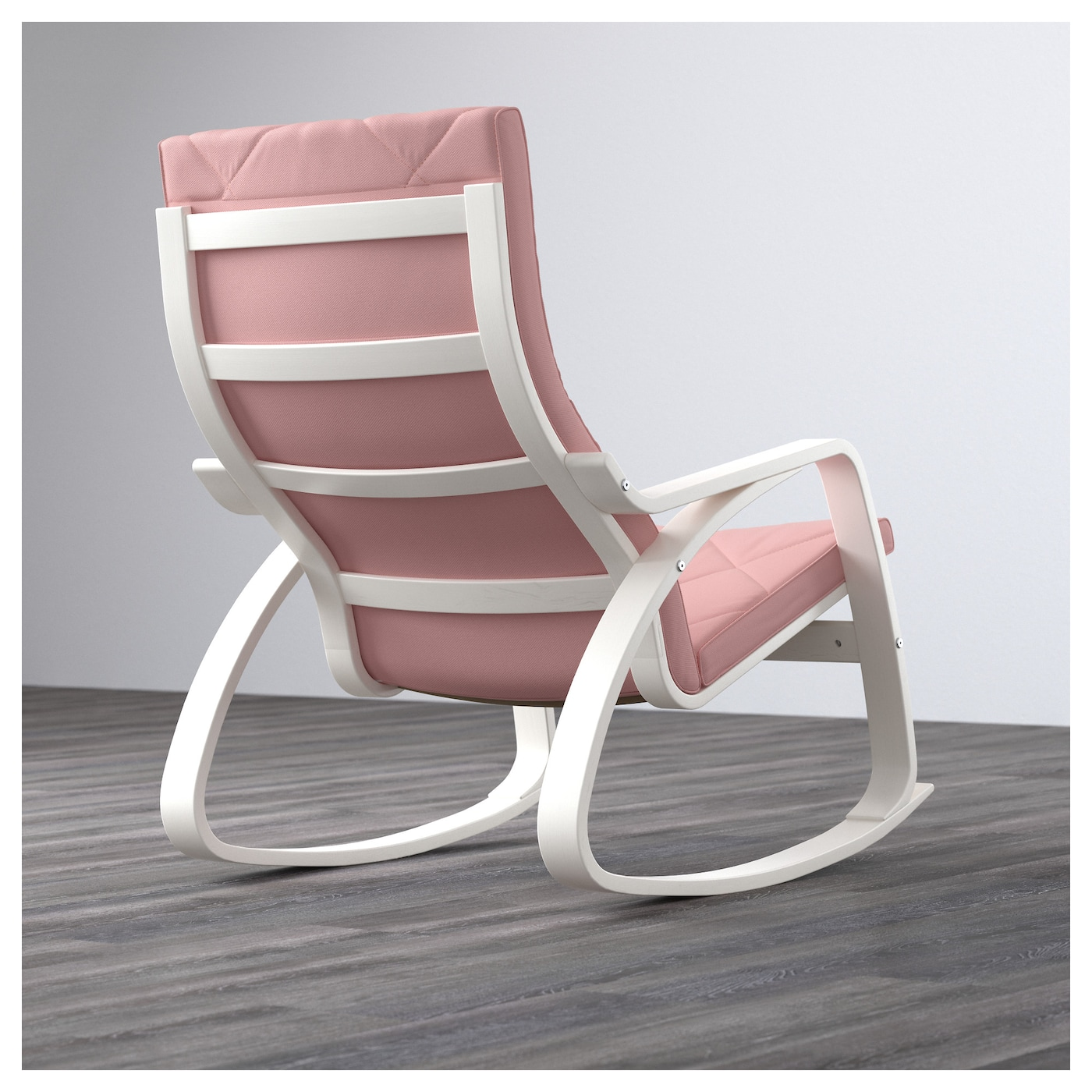 Rocking-chair POÄNG White/gräsbo pink
