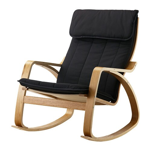 POÄNG Rocking-chair Oak veneer/ransta black - IKEA