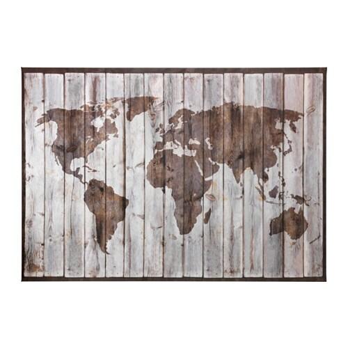 premi196r picture driftwood map 200x140 cm ikea