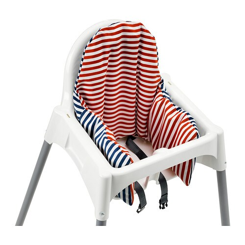 Pyttig supporting cushion and cover red blue ikea for High baby chair ikea