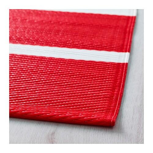 Ikea Waterproof Rug: RÖRHOLT Rug, Flatwoven In/outdoor Red/white 75x200 Cm