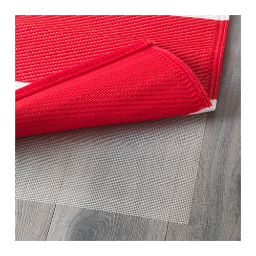 RÖRHOLT Rug flatwoven In outdoor red white 75x200 cm IKEA
