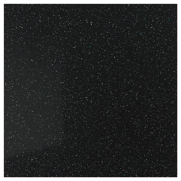 RÅHULT custom made wall panel black with mineral/glitter effect/quartz 10 cm 300 cm 10 cm 120 cm 1.2 cm 1.00 m²