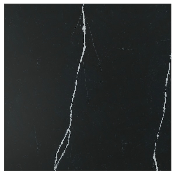 RÅHULT custom made wall panel matt black/marble effect quartz 10 cm 300 cm 10 cm 120 cm 1.2 cm 1.00 m²