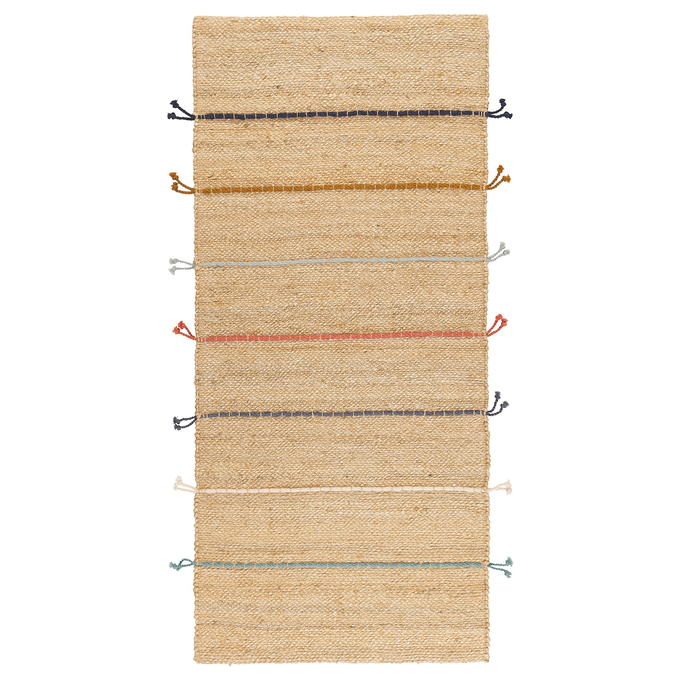 IKEA RAKLEV rug, flatwoven Jute is a durable and recyclable material with natural colour variations.