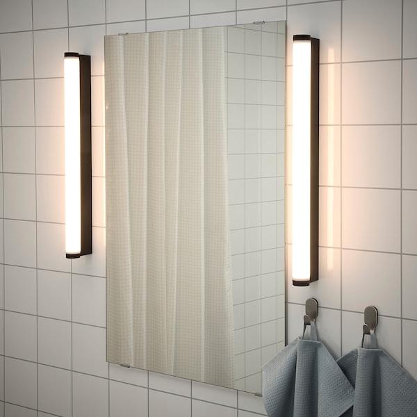 RAKSTA LED wall/mirror lamp, black, 60 cm