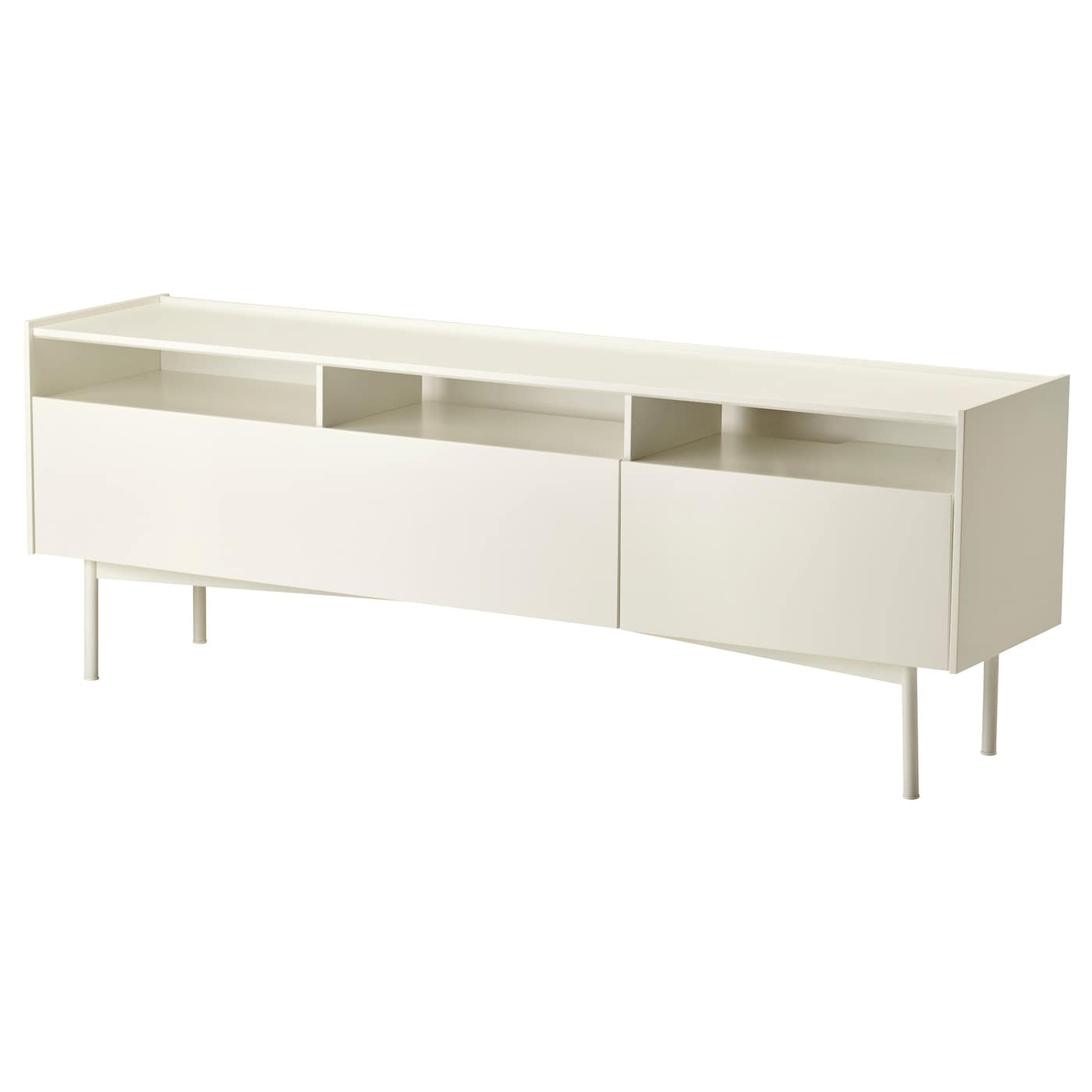 IKEA RAMSÄTRA TV bench Powder-coated fibreboard makes the surface durable and scratch resistant.
