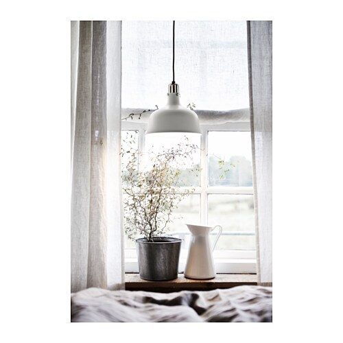 IKEA RANARP work lamp Provides a directed light that is great for reading.
