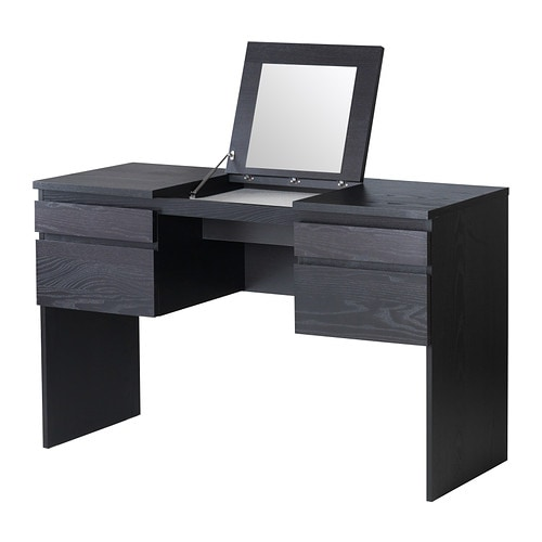 Ikea Malm Frisiertisch Schminktisch Weiß ~ RANSBY Dressing table with mirror  black brown  IKEA