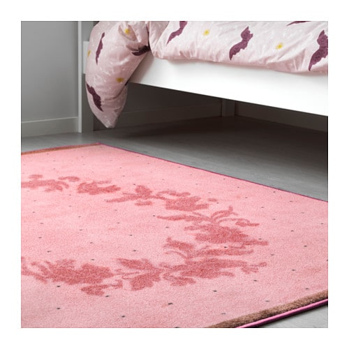 Raring rug low pile pink 133x160 cm ikea for Ikea pink rug