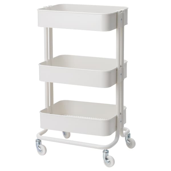 RÅSKOG Trolley, white, 35x45x78 cm
