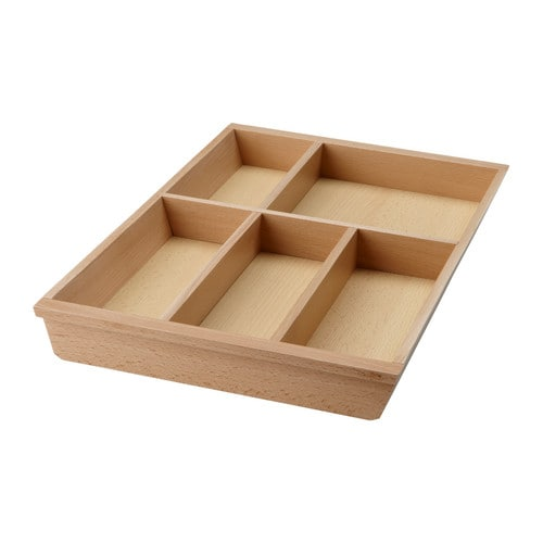 RATIONELL Cutlery tray basic unit IKEA Dimensioned for RATIONELL drawer 40 cm wide; makes maximum use of the space.