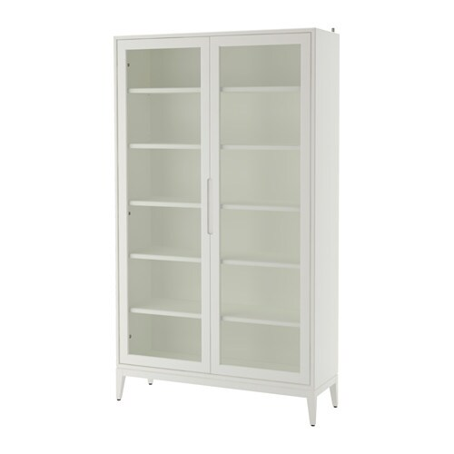 IKEA REGISSÖR glass-door cabinet Adjustable shelves, so you can customise your storage as needed.