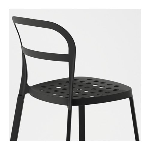IKEA REIDAR chair, in/outdoor The holes in the seat drain rainwater off.