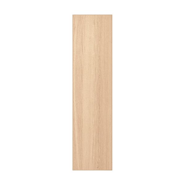 REPVÅG door with hinges white stained oak veneer 49.5 cm 194.6 cm 201.2 cm 1.8 cm