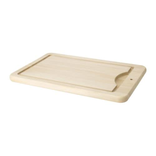 RESURS Carving board IKEA The chopping board collects meat and fruit juice in the milled groove and prevents it from spilling on to your worktop.