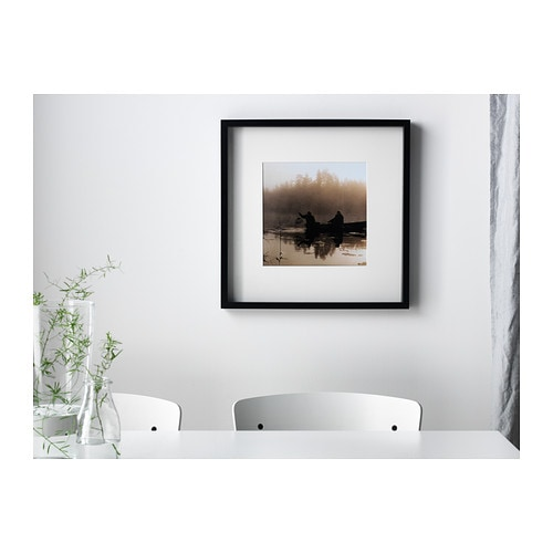Ribba frame black 50x50 cm ikea for Ikea ribba weiay