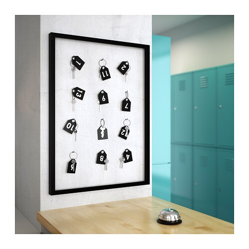 Ribba frame black 50x70 cm ikea for Ikea ribba weiay