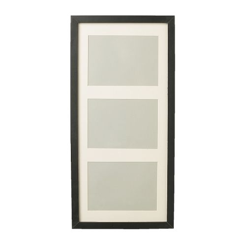 IKEA RIBBA frame You can choose to use the frame for 3 pictures 13x18 cm or 1 picture 50x23 cm.