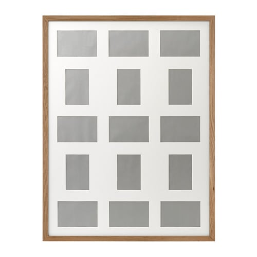 RIBBA Frame for 15 pictures Oak effect 60 x 80 cm - IKEA