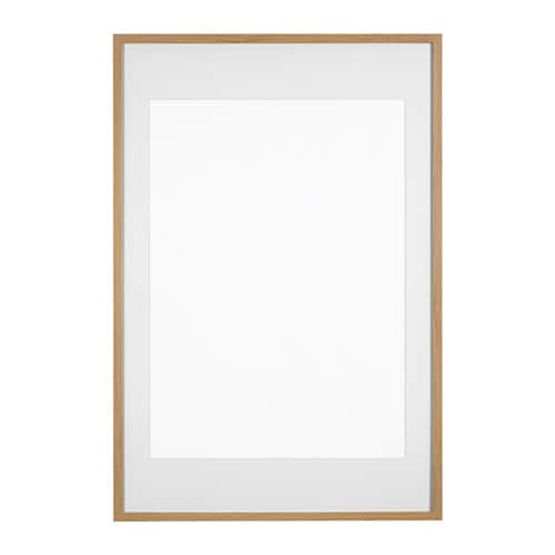 Ribba frame oak effect 61 x 91 cm ikea for Ikea ribba plank