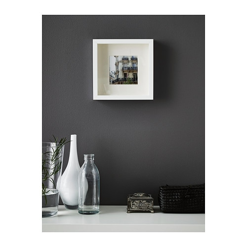 Ribba frame white 23x23 cm ikea for Cadre photo mural bois