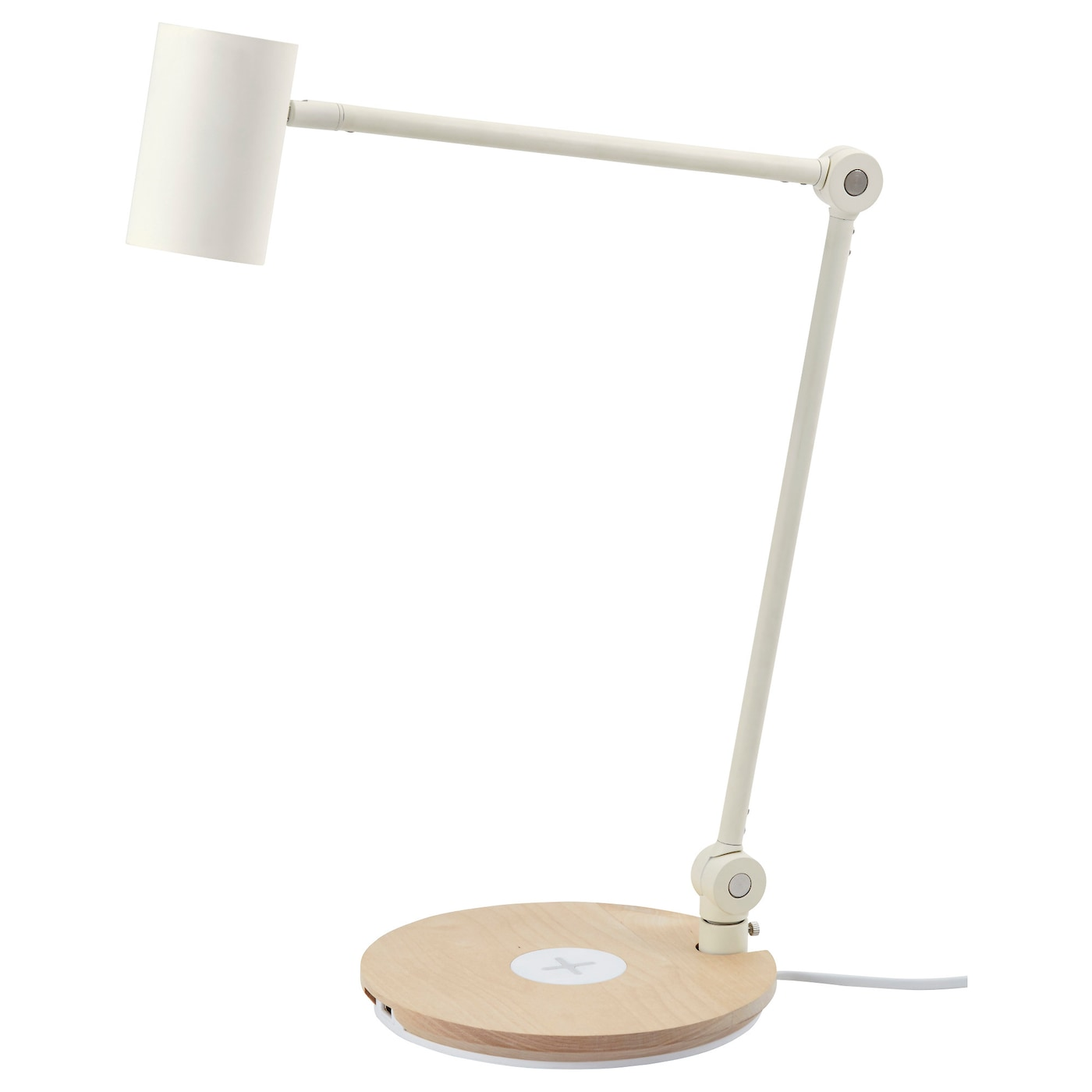 IKEA RIGGAD LED work lamp w wireless charging Provides a directed light that is great for reading.