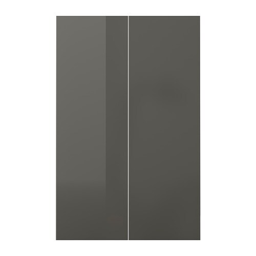 ringhult 2 p door f corner base cabinet set high gloss grey 25x80 cm ikea