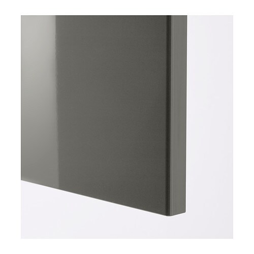 High Gloss Kitchen Cabinet Doors: RINGHULT Door High-gloss Grey 40x80 Cm