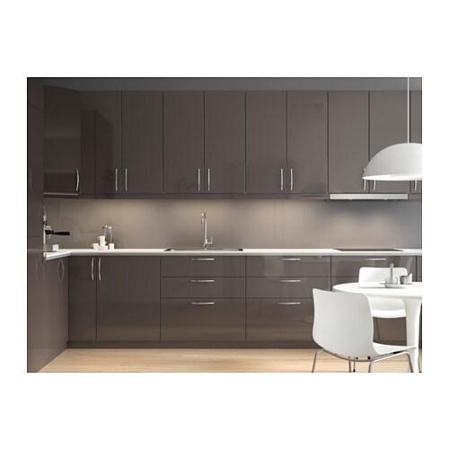 Ringhult Grey Kitchen: RINGHULT Door High-gloss Grey 40x80 Cm