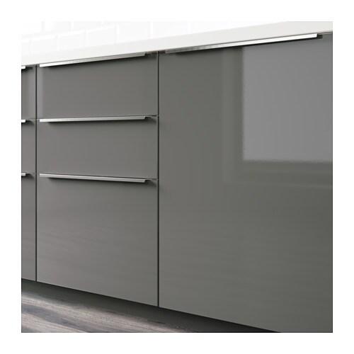 Ikea Abstrakt Kitchen Cabinet Door Front High Gloss Cream: RINGHULT Door High-gloss Grey 60x80 Cm