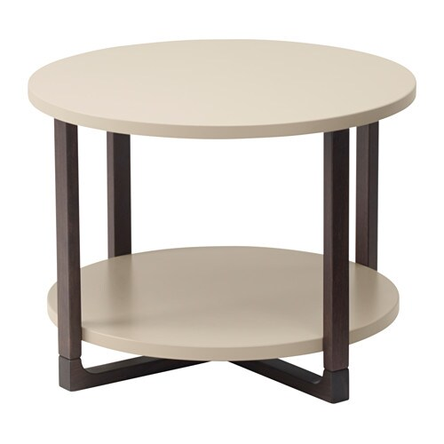 IKEA RISSNA side table The table legs are made of solid wood, a hardwearing natural material.