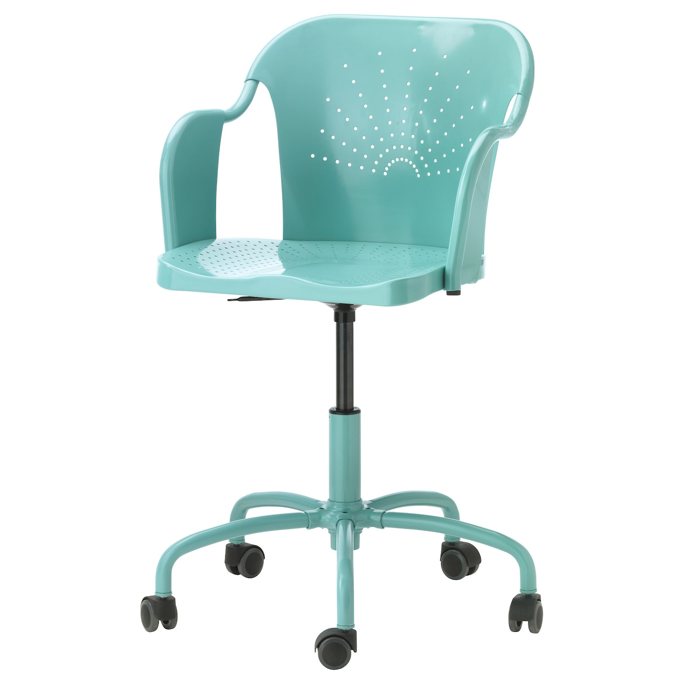 IKEA ROBERGET swivel chair You sit comfortably since the chair is adjustable in height.