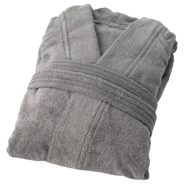 ROCKÅN bath robe grey 104 cm 380 g/m²
