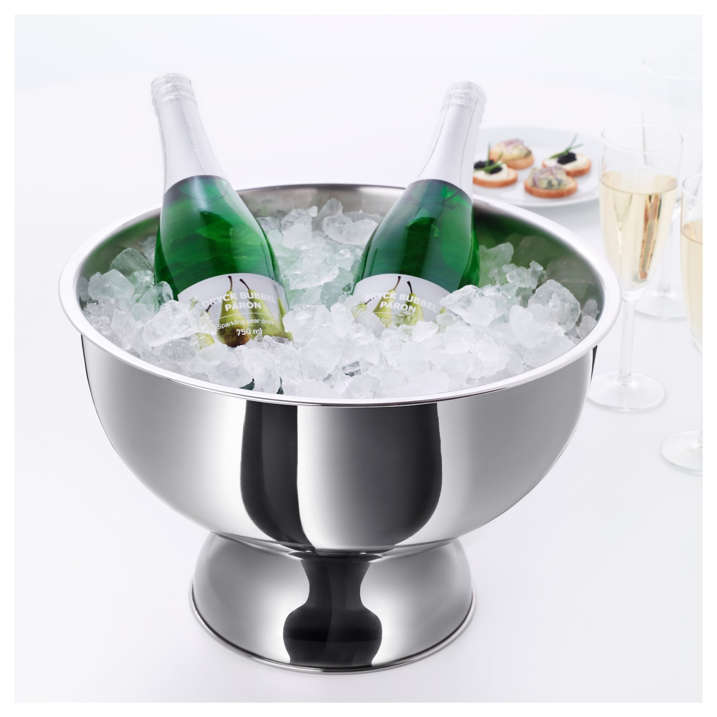 IKEA ROLIGT wine/champagne cooler Fill with ice to keep your beverages cool longer.