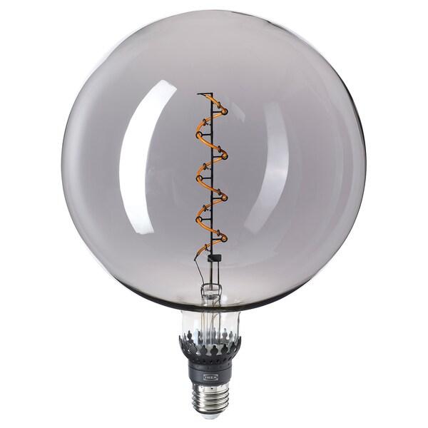 ROLLSBO LED bulb E27 200 lumen, dimmable/globe grey clear glass, 200 mm