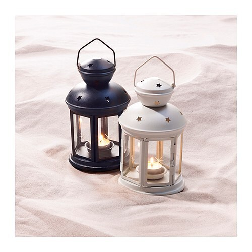 ROTERA Lantern For Tealight Inoutdoor White 21 Cm IKEA
